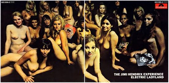 Jimi Hendrix's Electric Ladyland UK CD release (front +back)