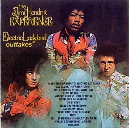 Jimi Hendrix's Electric Ladyland original Reprise release cover (back)