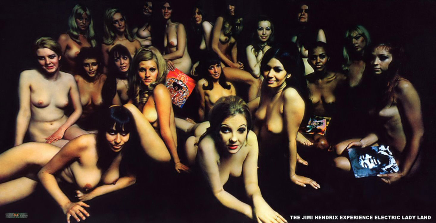 Jimi Hendrix's Electric Ladyland original Track release cover (darker)